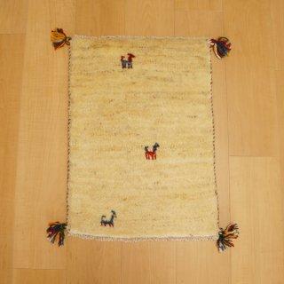 イラン・カシュガイ族の手作り絨毯 ギャッベ 57 x 41cm -02-