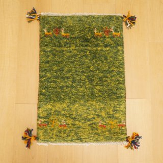 イラン・カシュガイ族の手作り絨毯 ギャッベ 57 x 38cm -05-