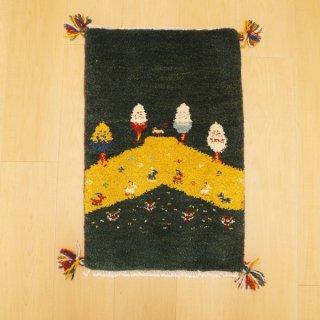 イラン・カシュガイ族の手作り絨毯 ギャッベ 60 x 39cm -06-