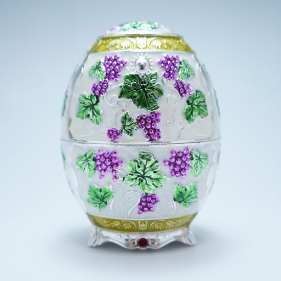 ロシア金属工藝 爪楊枝入れ-ブドウ01