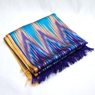 ウイグル ホータン伝統の手織りシルク アトラスシルクストール-2