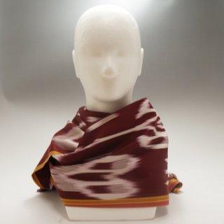 ウイグル ホータン伝統の手織りシルク アトラスシルクストール-12