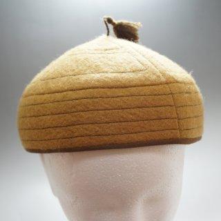 キルギス TUMAR どんぐり型のキャップ ブラウン