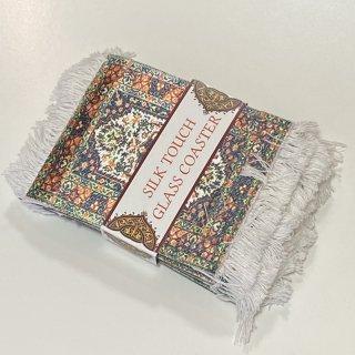 トルコ 絨毯コースター 4枚セット -5
