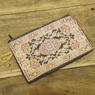 トルコ 絨毯柄のミニポーチ-3