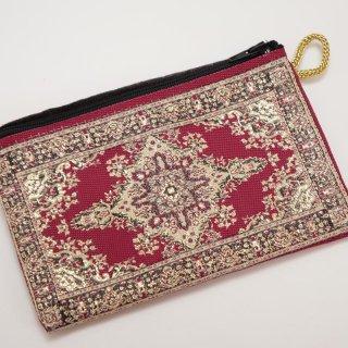 トルコ 絨毯柄のミニポーチ-4