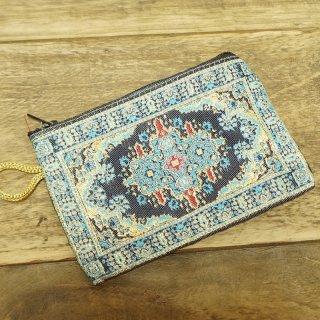トルコ 絨毯柄のミニポーチ-5