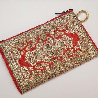 トルコ 絨毯柄のミニポーチ-7