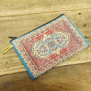 トルコ 絨毯柄のミニポーチ-9