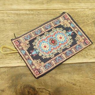 トルコ 絨毯柄のミニポーチ-11