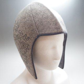 キルギス TUMAR 耳当て付きフェルト帽