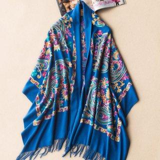 西蔵民族刺繍 羊毛ストール