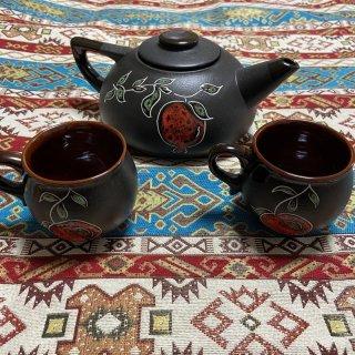 アルメニア ザクロ模様のカップとポットのセット
