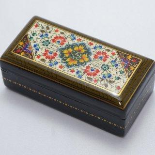 ウズベキスタン細密画木箱 長方形-01
