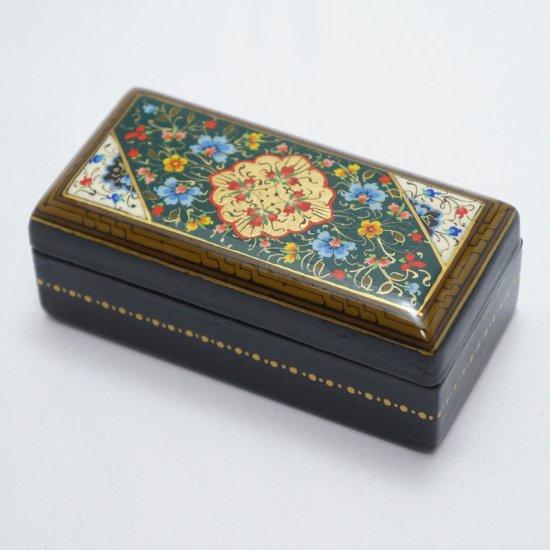 ウズベキスタン細密画木箱 長方形-02