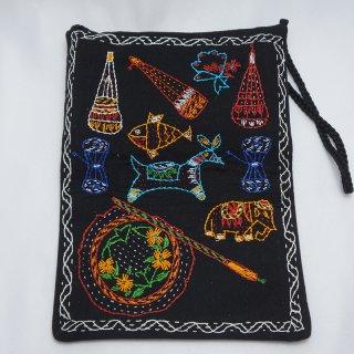 バングラディッシュ ノクシカタ刺繍 ミニショルダーバッグ4