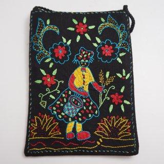 バングラディッシュ ノクシカタ刺繍 ミニショルダーバッグ5