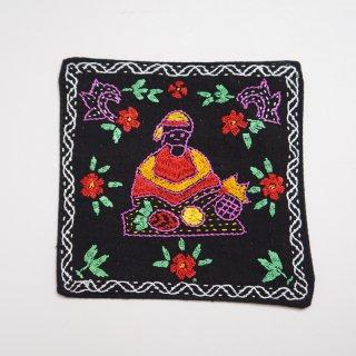バングラディッシュ ノクシカタ刺繍のコースター2