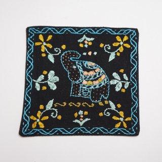 バングラディッシュ ノクシカタ刺繍のコースター4