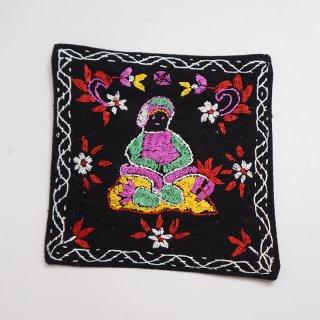 バングラディッシュ ノクシカタ刺繍のコースター6