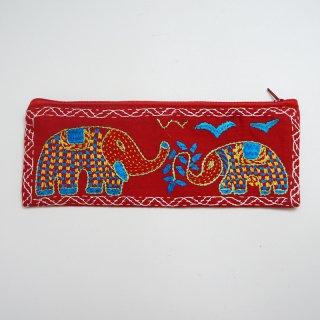 バングラディッシュ ノクシカタ刺繍 ペンケース2