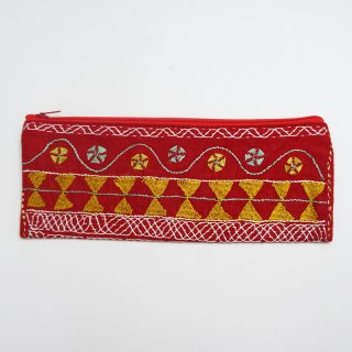 バングラディッシュ ノクシカタ刺繍 ペンケース3