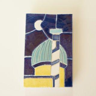 ウズベキスタン ハンドメイドモザイクタイル 壁掛1