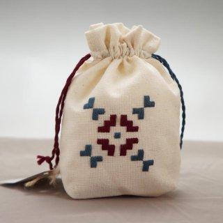 アルメニア ハンドメイド刺繍ミニポーチ-3