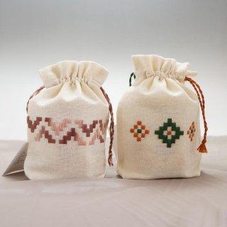 ナリンの白いはちみつとアルメニア刺繍ミニポーチのセット