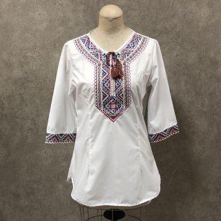 ウイグル 伝統刺繍シャツ3