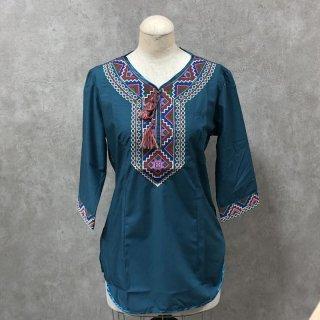 ウイグル 伝統刺繍シャツ4