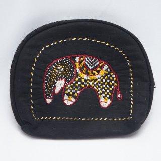 バングラディッシュ ノクシカタ刺繍 ミニポーチ1