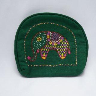 バングラディッシュ ノクシカタ刺繍 ミニポーチ5