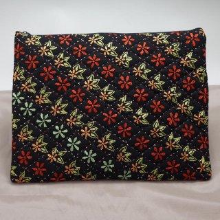 バングラディッシュ ノクシカタ刺繍 フラットポーチ5