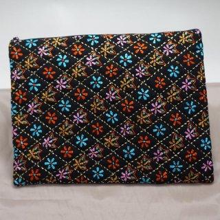 バングラディッシュ ノクシカタ刺繍 フラットポーチ6