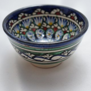ウズベキスタン リシタンの陶器 カップ小-01