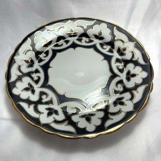 ウズベキスタン 綿花柄の皿 23cm