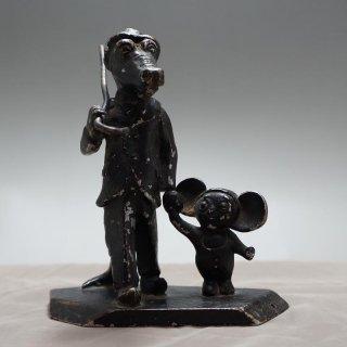 ワニのゲーナとチュブラーシカの置物(ソビエト)