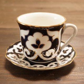 ウズベキスタン 綿花柄のカップ&ソーサー