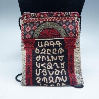 アルメニア文字のミニショルダーバッグ