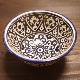 ウズベキスタン リシタンの陶器 カップ中 青-01