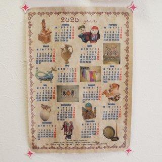 サマルカンドペーパー カレンダー