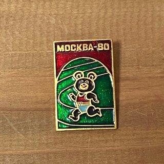 モスクワオリンピック ミーシャのピンバッジ1