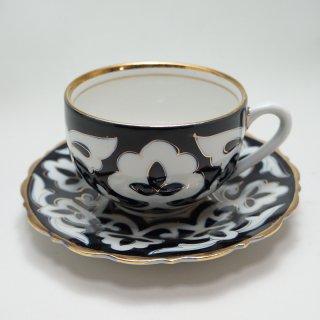 ウズベキスタン 綿花柄のカップ&ソーサー2