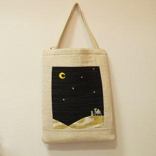 ウズベキスタンの生地を使ったオリジナル刺繍トートバッグ 1