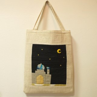 ウズベキスタンの生地を使ったオリジナル刺繍トートバッグ 2