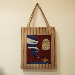 ウズベキスタンの生地を使ったオリジナル刺繍トートバッグ 3