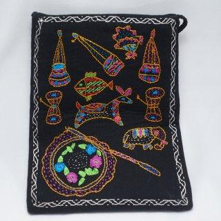 バングラディッシュ ノクシカタ刺繍 ミニショルダーバッグ8