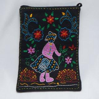 バングラディッシュ ノクシカタ刺繍 ミニショルダーバッグ9