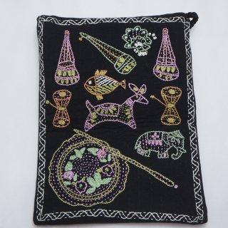 バングラディッシュ ノクシカタ刺繍 ミニショルダーバッグ10